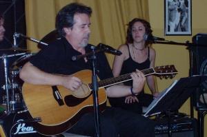 Mario aguirre y Hoel Huber en el Resto Club Palermo - 22 febrero 2006
